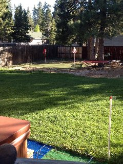 amazing back yard plenty of room fully fensed