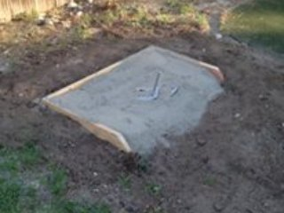 Regulation size horseshoe pits