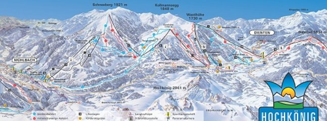The many ski runs which can be accessed from the village