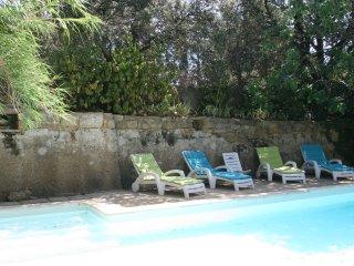 Uzès, joli mas en pierre avec piscine, Uzes