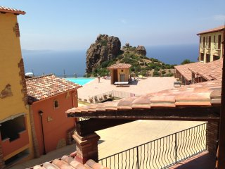 Sardinia,Nebida,holiday apartment/ orange/pool.