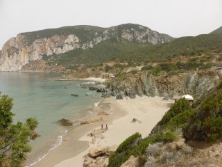Trekking holidays in Sardinia, quiet location in mountain village, beaches close