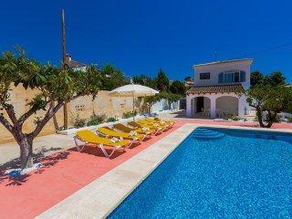 Villa with terrace,barbecue Ca, Calpe