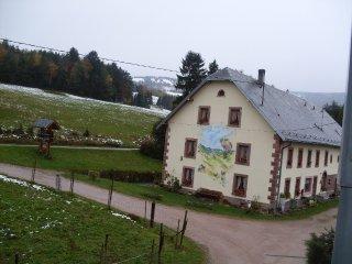la maison à la fin de l'hiver