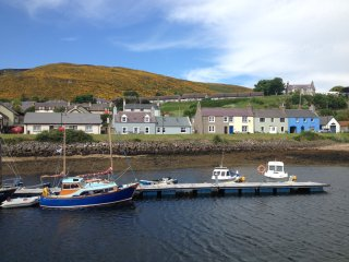 The Hoose on the harbour at Helmsdale, Sutherland.