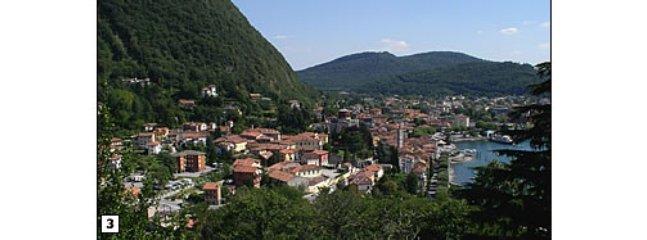 panorama di Laveno dal parco Castello-Laveno panorama fron Castle parck