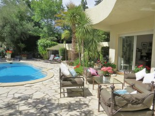 Large sunny family villa, pool large garden, Vence