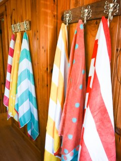 Beach towels and beach accessories available!