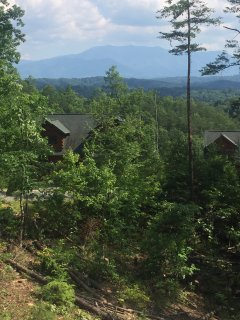 The view from the great room of Mt. LeConte
