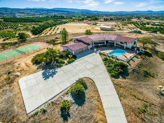 Wine Country Home w/ Private Tennis Court & Pool!