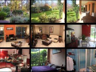 App T2 RDJ 56m2 + jardin et terrasse 123m2 LYON