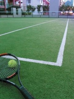 Tennis court, one of two