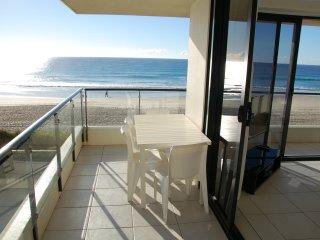 Balcony overlooking Beach and Ocean
