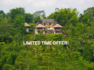 Hillside Eden, Stunning 5* Service, Amazing Views!, Ubud