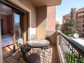 Modern apartment with a terrace in Marrakech, Marrakesch