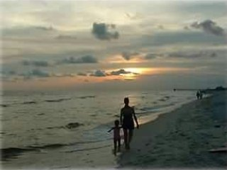 Walking on the Beach at Sunset, what could be better.
