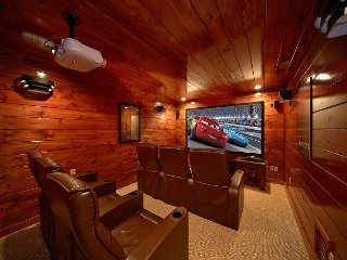 4 Bedroom Gatlinburg Theater Room Cabin with Amazing Views of Mt LeConte
