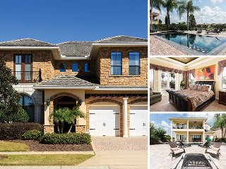 Muirfield Manor | 7 Bed, 4,000 Sq. Ft Luxury Villa Overlooking Nickalus Golf Course with Game & Theme Rooms, Kissimmee