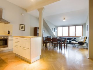 Praha Park Loft apartment in Vinohrady with WiFi, integrated air conditioning (h