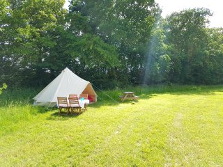 Glamping or Camping, beautiful Meadow sleeps to 60 in 15 rooms.