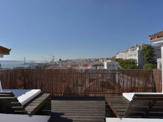 Chiado Skyline apartment in Baixa/Chiado with WiFi & private roof terrace.