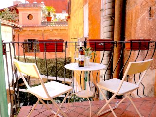 Rome: Modern Design in Trendy Trastevere, 2 Bdrs, 2 Baths & Terrace