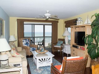 2 BR, 2 BA Oceanfront Condo with views and wide sandy beach!