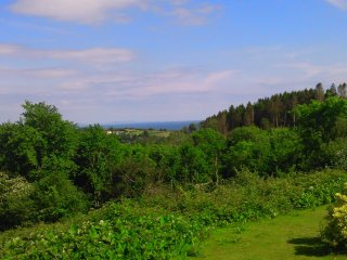 View from garden over Pleasant Valley and Stepaside to the sea