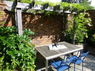 Private garden where you can relax in the sun!