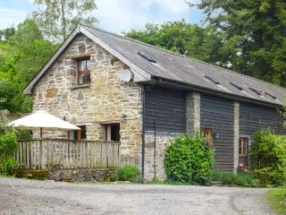 TRACTOR SHED, wood-fired hot tub, pet-friendly, barn conversion, Knighton, Ref