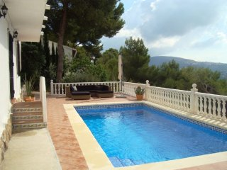Villa Marika above Moraira with fabulous sea views