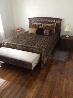 Master Bedroom--Luxurious and comfortable bedding