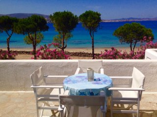 Beachfront Family Studio for 4-5  - on Krios beach