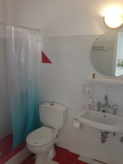 Private bathroom with shower. Hair dryer provided.