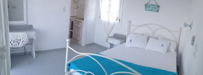 Beach studio #3 ~ Double bed, new kitchenette, a/c, wifi, TV, bathroom with shower. BEACHFRONT!