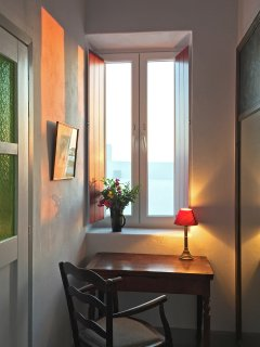 Writing desk with a view. Master bedroom.