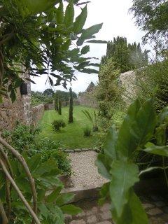 jardin vers la vallée