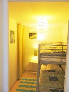 Petite chambre lits superposés 90/200
