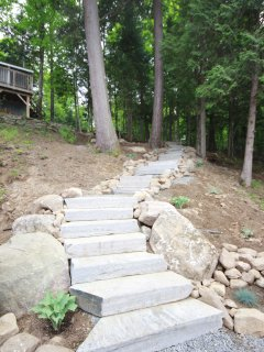 New granite steps