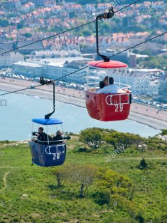 A fabulous view from Llandudno's cable cars.