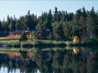Rustic Log Cabin #4 at Chaunigan Lake Lodge, Nemaiah Valley