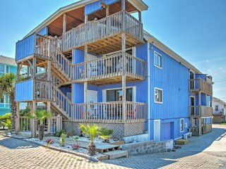 New Listing! Breezy Oceanfront 1BR Carolina Beach Condo w/Wifi, Covered Patio & Private Walkway to Beach! - Steps to the Boardwalk & Other Popular Local Attractions!