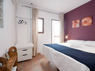The Double bed room has access to a private patio where you can enjoy your siesta in a pleasant temp