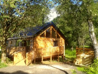 Bluebell Cabin, with hot tub