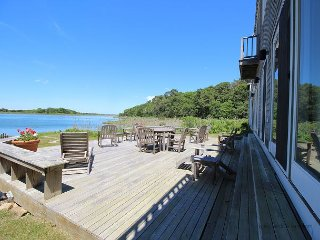 FABULOUS WATERFRONT HOME OVERLOOKING LAKE TASHMOO TO THE VINEYARD SOUND