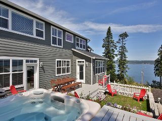 New farmhouse-style retreat with views of Puget Sound. 3 bed, 3 bath., Greenbank