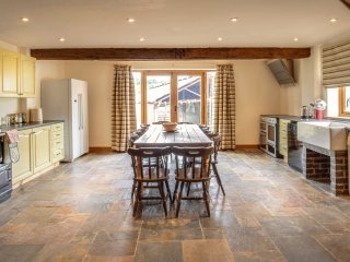 Well equipped kitchen with seating for all guests. Also offering an electric Aga and range cooker.