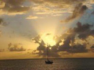 Sunset over Sandy Island