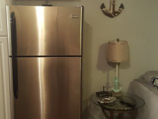 Full size stainless fridge