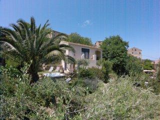 maison avec jardin dans village typique corse